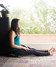 Sitting against Wall, legged extended